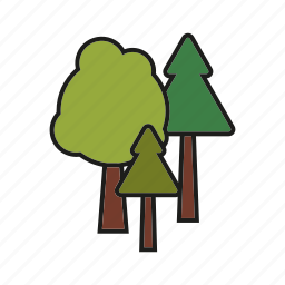 camping, forest, nature, outdoors, trees, trekking, woods icon