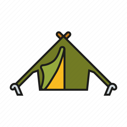 camping, equipment, outdoors, shelter, tent, trekking icon
