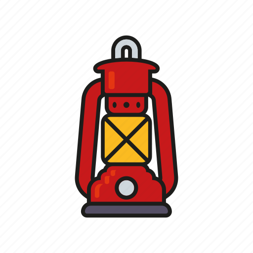 camping, equipment, lighting, oil lamp, outdoors, petrol lamp, trekking icon