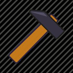 carpentry, diy, equipment, hammer, tool icon
