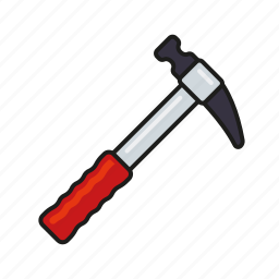 diy, equipment, hammer, metalworking, tool icon
