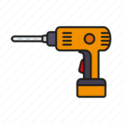 cordless, diy, drill, electrical, equipment, tool icon