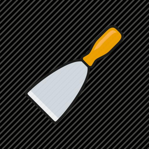 construction, diy, equipment, scraper, spatula, tool icon