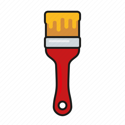 brush, diy, equipment, paint, paintbrush, tool icon