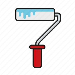 diy, equipment, paint, paint roller, tool icon