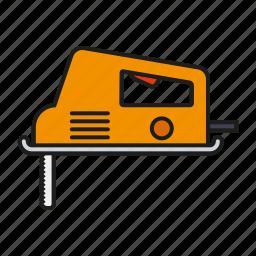 diy, electrical, equipment, jigsaw, saw, tool icon