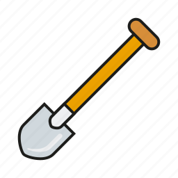 construction, diy, equipment, shovel, spade, tool icon