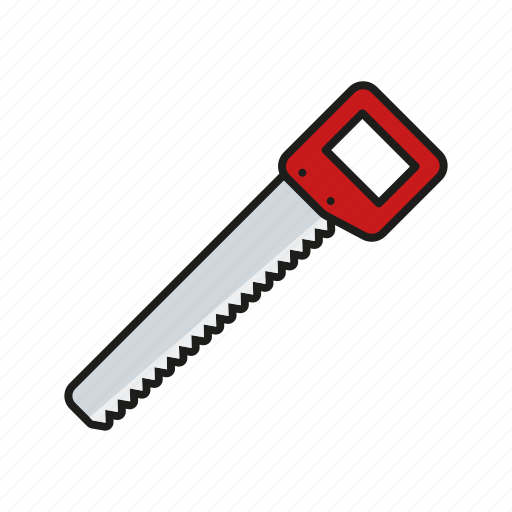 carpentry, diy, equipment, handle, handsaw, saw, tool icon