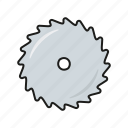 blade, carpentry, circular, diy, equipment, saw, tool icon