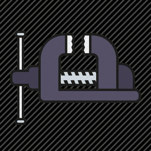 diy, equipment, grip vise, metalworking, tool, vice, workshop icon