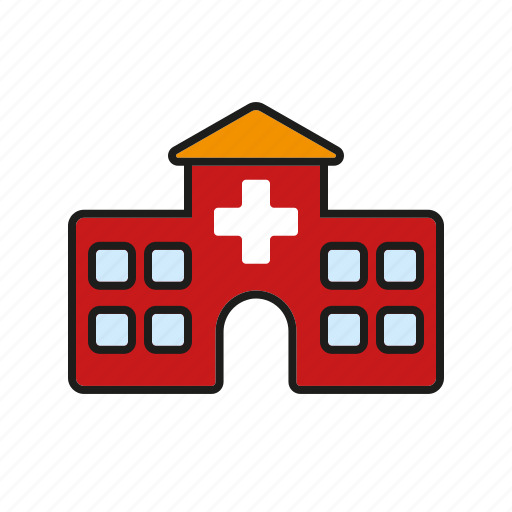 building, clinic, healthcare, hospital, medical, medical center icon