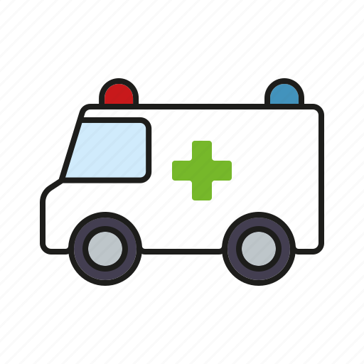 ambulance, healthcare, hospital, medical, rescue van, vehicle icon
