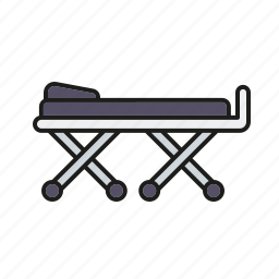 equipment, healthcare, hospital, medical, stretcher icon