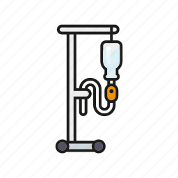healthcare, hospital, infusion, iv-drip, medical, pole, stand icon