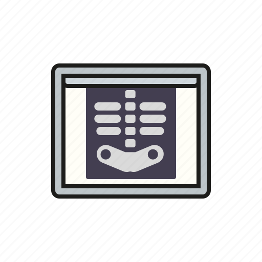 equipment, healthcare, hospital, lightbox, medical, radiograph, x-ray image icon