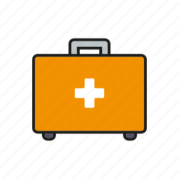 emergency, equipment, first aid, healthcare, hospital, medical, suitcase icon
