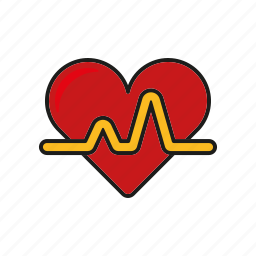 healthcare, heart, heartbeat, hospital, medical, pulse icon