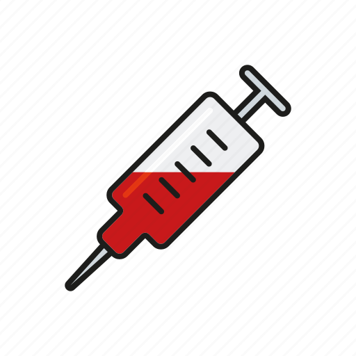 blood, equipment, healthcare, hospital, injection, medical, syringe icon