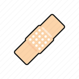 adhesive bandage, band aid, healthcare, hospital, medical, patch, plaster icon