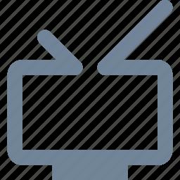 antenna, broadcast, entertainment, industry, line, media, movie, multimedia, television, tv icon