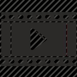 film, frame, lent, movie, multimedia, play, video icon