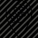 cinema, gps, location, pin icon