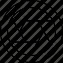 camera, cinema, lens, shutter icon