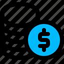coin, dollar, finance, stack