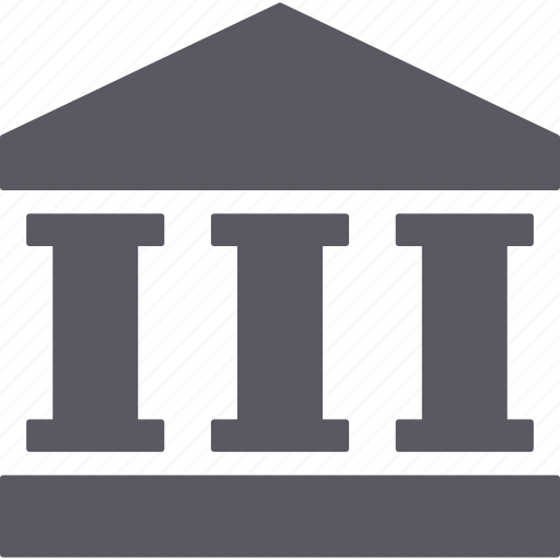 bank, building, business, finance, money, museum icon