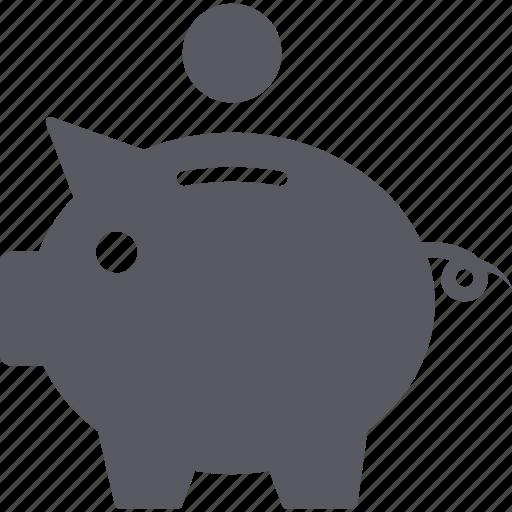 coin, dollar, finance, income, money, piggy bank, save icon
