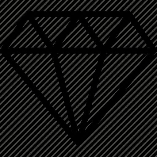 diamond, finance, financial, premium, vip icon