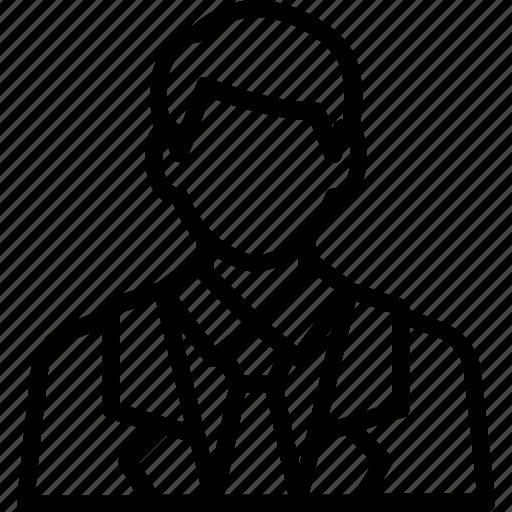avatar, businessman, finance, person, profile icon