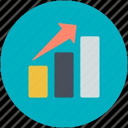 bar chart, bar graph, bars graphic, financial chart, statistics icon