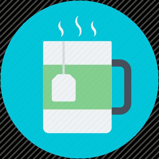 drink, hot tea, instant tea, tea mug, teabag icon