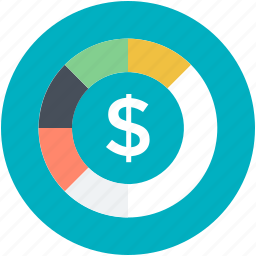 currency, dollar coin, finance, money, saving icon