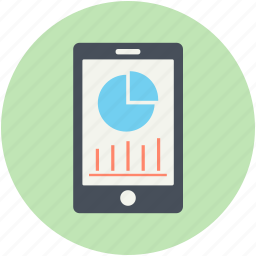 diagram, mobile graph, mobile state, online graph, stats icon
