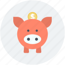 money bank, money box, penny bank, piggy bank, saving icon