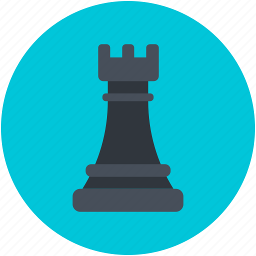 chess piece, chess rook, game element, leadership, strategy icon