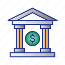 bank, building, bussines, finance icon