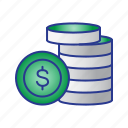 bussines, coin, finance, money icon