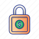 bussines, finance, lock, security, shield icon
