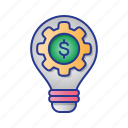 bulb, bussines, finance, idea, lamp, research, strategy