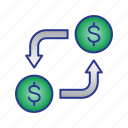 bussines, finance, money, money changer icon