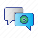 bussines, chat, conversation, finance, message icon