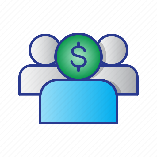 bussines, client, finance, people, user icon