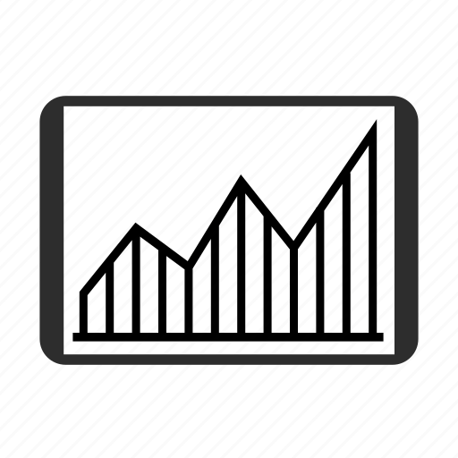 analytics, chart, finance, growth, sales, statistics, stock icon icon