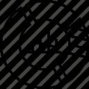 bar graph, donut graph, graph, pie chart, pie graph icon