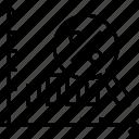 bar graph, infographics, magnifying, percentage, progress chart icon