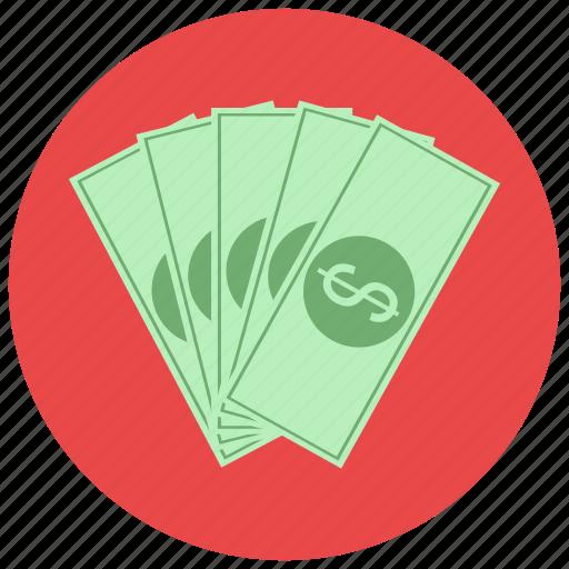 bills, dollar, finance, payment icon