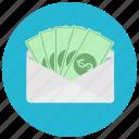 bills, dollar, envelope, finance, payment
